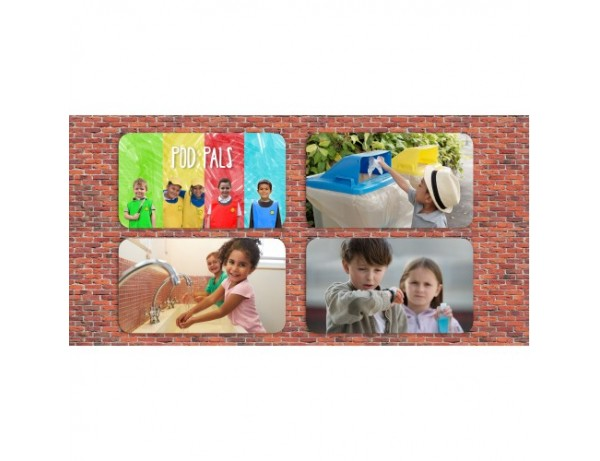 Outdoor Wall & Fencing Posters Set of 6 (Large)