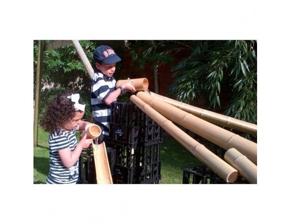 Bamboo Water Channel, 4 Full Tubes