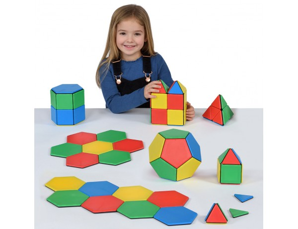Magnetic Polydron Essential Shapes 104pc Set