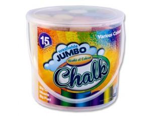Coloured Jumbo Chalk (Set of 15)