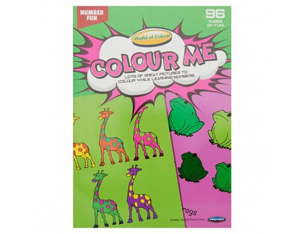 96 Page Number Fun Colouring Book