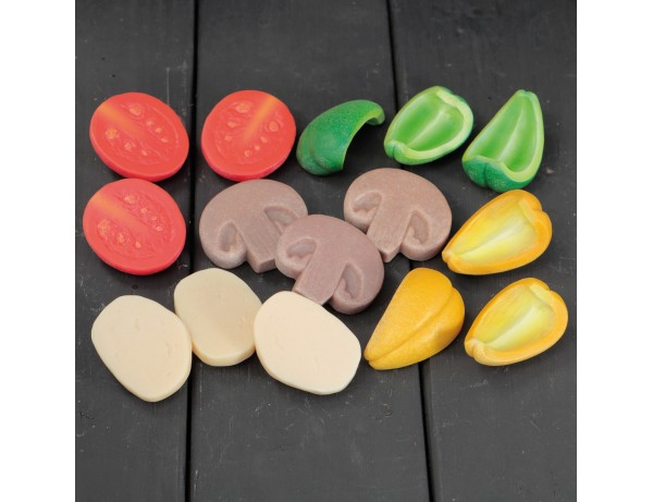 Pizza Toppings – Sensory Play Stones (set of 15)